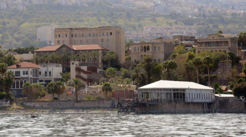 The Scot's Hotel faces the Sea of Galilee-