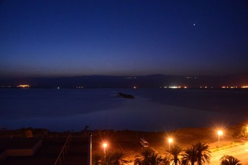 early morning twilight, the dead sea